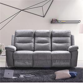 ספה תלת מושבית מרופדת בד רחיץ עם 2 הדומים נשלפים HOME DECOR דגם ולנסיה