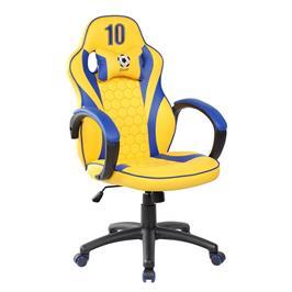 כיסא גיימרים ארגונומי ובטיחותי כולל כרית תמיכת צוואר דגם SPIDER GOAL מבית SPIDER