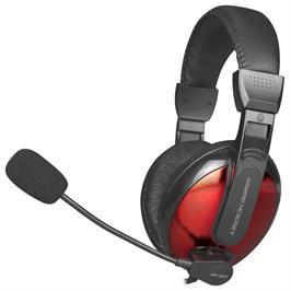 אוזניית סטריאו בגימור אדום בוהק לגיימר מדגם HP-307BK מבית XTRIKE ME