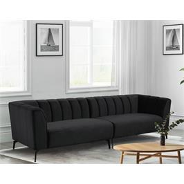ספה רחבה 3 מ' מעוצבת עם קפיצים מבודדים ובד קטיפה HOME DECOR דגם ורונה בשני צבעים לבחירה