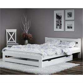 """מיטה זוגית מעץ מלא עם ארגז מצעים למזרן 140*190 ס""""מ מבית BRADEX דגם MIRA"""