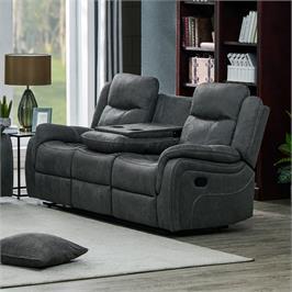 ספה תלת מושבית מבד עם 2 הדומים נשלפים ובר מבית HOME DECOR דגם אוליביה