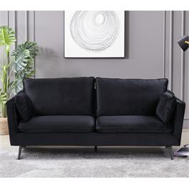 ספה תלת מושבית מעוצבת עם קפיצים מבודדים ובד קטיפה HOME DECOR דגם רותם
