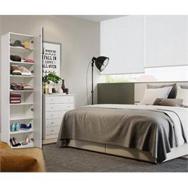 ארון עם 8 מדפי עץ ודלת חזית לבנה ללא מראה מבית HOMAX דגם שגיא