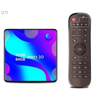 סטרימר ANDROID TV BOX 4K PS 10.0 כולל שלט ומגוון תוכנות ונגני מדיה מבית GRANDTEC דגם AND10