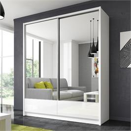 """ארון הזזה 180 ס""""מ עם 2 דלתות מראה ומגירות תוצרת אירופה HOME DECOR דגם דורון"""