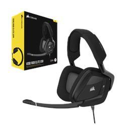 אוזניות גיימינג תוצרת CORSAIR דגם VOID RGB ELITE USB 7.1 קרבון