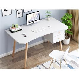 שולחן סטודנט מדליק בגוון לבן עם 2 מגירות מבית Tudo Design דגם אופיר