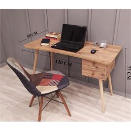 שולחן סטודנט מדליק בגוון אורן אטלנטי עם 2 מגירות מבית Tudo Design דגם אופיר