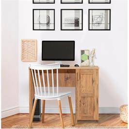 שולחן כתיבה וארונית אחסון בגוון אורן אטלנטי מבית Tudo Design דגם קיוטו