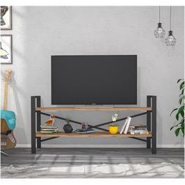 מזנון טלוויזיה מברזל בשילוב עץ תעשייתי מבית Tudo Design דגם ביאנקה