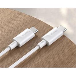 כבל USB PD 100W Type-C E-MARK 5A- אורך 1.5 מטר- לטעינה עד 100W מבית MATRIX