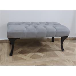 הדום ספסל ישיבה מעוצב מרופד בבד קטיפה Tudo Design דגם קלודין