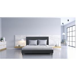 מיטה זוגית מרופדת דמוי עור מבית פנדה סטייל דגם SHAGI אפור
