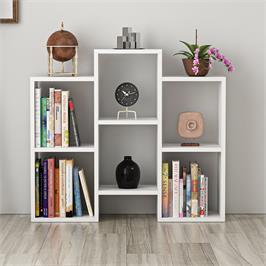 כוורת ספריה מעוצבת עם 6 תאים גוון לבן מט Tudo Design דגם FLEET WHITE