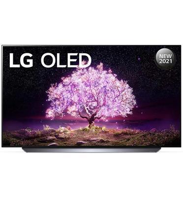 טלוויזיה 77 אינץ' בטכנולוגיית OLED, ברזולוציית 4K Ultra HD עם ניגודיות אינסופית, HDR ובינה מלאכותית LG דגם OLED77C1PVA