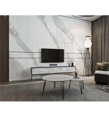 סט מזנון וזוג שולחנות איכותיים, השילוב שישדרג לכם את הסלון מבית פנדה סטייל דגם שיש משולב