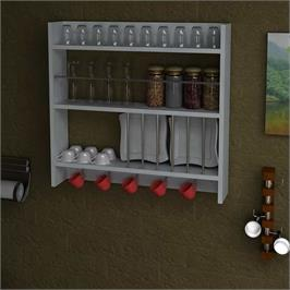 יחידת מדפים דקורטיבית למטבח מבית HOMAX דגם דליינה DE2985
