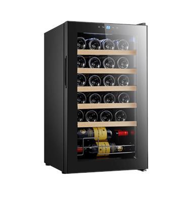 מקרר יין 24 בקבוקים עם מדפי עץ תוצרת LANDERS דגם JC 70W
