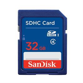 כרטיס זיכרון SD + SDHC בנפח 32GB מבית SanDisk דגם SDSDB-032G-B35