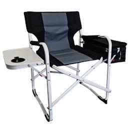 כיסא קמפינג+צידנית מבית Glamp צבע שחור/אפור