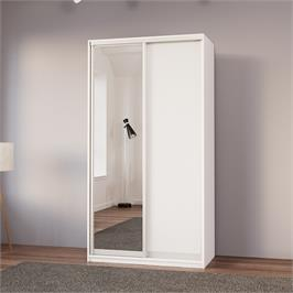 """ארון בגדים 120 ס""""מ עם דלת מראה ומגירות תוצרת אירופה HOME DECOR דגם שגיא"""