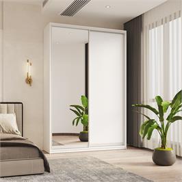 """ארון הזזה 150 ס""""מ עם דלת מראה תוצרת אירופה HOME DECOR דגם אסף"""