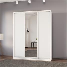 """ארון בגדים 180 ס""""מ עם דלת מראה ומגירות תוצרת אירופה HOME DECOR דגם סיאם"""