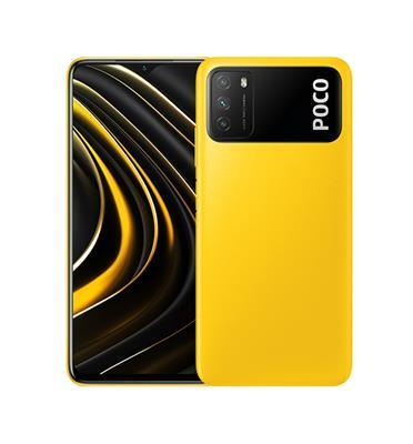 """סמארטפון 6.53"""" זיכרון מעבד 4GB זיכרון אחסון 128GB מצלמה 48MP + 2MP + 2MP דגם POCO M3"""