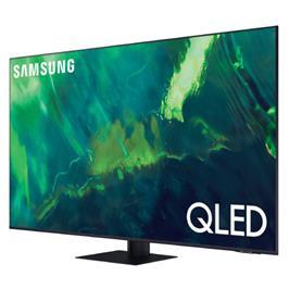 טלוויזיה 65 עיצוב יוקרתי ללא מסגרת בגימור כסוף QLED 4K תוצרת SAMSUNG דגם 65Q80A