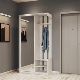 ארון כניסה עם דלת מראה ותאי אחסון תוצרת אירופה HOME DECOR דגם הילה