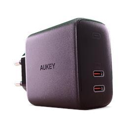 מטען מהיר מיני דגם 65W USB-C X2 מבית AUKEY