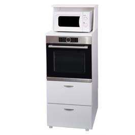"""ארונית דקורטיבית לתנור בילט אין מוגבה משולב תא למקרוגל ומשטח הכנה מבית אביעם סחר בע""""מ דגם 777A"""