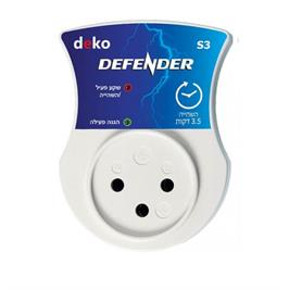 מגן ברקים ונחשולי מתח עם השהייה- למוצרים עם מדחס או מנוע מבית DEKO דגם S3 DEFENDER