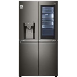 מקרר 4 דלתות מקפיא תחתון נפח 653 ליטר גימור נירוסטה מושחרת No Frost תוצרת LG דגם GRX720INS