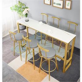 שולחן לאי מטבח ממתכת מעוצבת ושיש יוקרתי ללא כסאות סדרה יוקרתית מבית ROSSO ITALY דגם MSH-2-90A