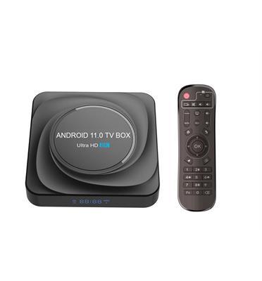סטרימר ANDROID TV BOX 8K ULTRA גרסה 11.0 + שלט חכם ומגוון תוכנות ונגני מדיה VISION דגם gtx20