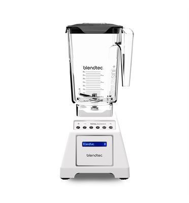 בלנדר דיגיטלי מציג את כל הכוח והתכונות תוצרת Blendtec דגם Total Blender Classic לבן