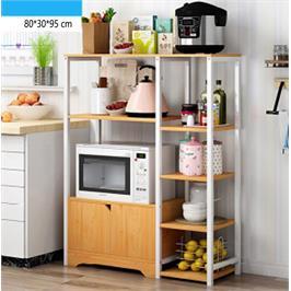כוננית למטבח כוללת 6 מדפים וארונית עם 2 דלתות לאחסון מבית GAROX דגם מלטה