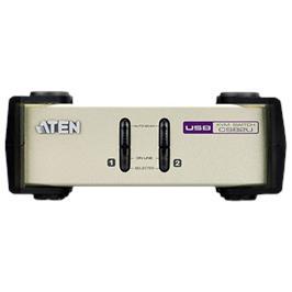 קופסת מיתוג ATEN 2-Port PS/2-USB VGA KVM Switch דגם CS82U