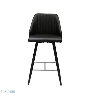 """כיסא בר בגובה 65 ס""""מ בריפוד דמוי עור מבית מוצר 2000 דגם שבלול"""