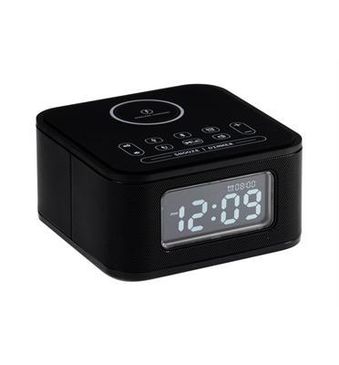 שעון מעורר חכם כולל רמקול, טעינה אלחוטית ונגן מוזיקה מבית VICTURIO דגם 102900H