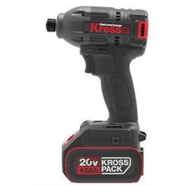 מברגת אימפקט נטענת 20V+זוג סוללות 4A תוצרת Kress דגם KU290.1