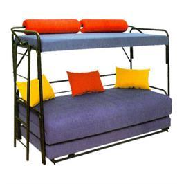 מיטת קומותיים משילדת מתכת הכוללת ארגז מצעים מבית Or Design דגם לולב