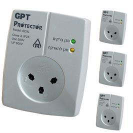 סט 3 שקעי הגנה למכשירים אלקטרוניים דגם GPT-SC9L
