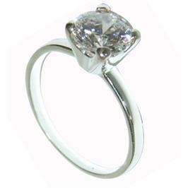 טבעת כסף סטרלינג עם אבן זרקון 3 קראט
