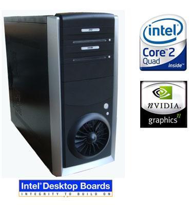 מחשב גיימרים Intel EVA COVE G35 Quad Q8200 4GB 1TB Geforce 9500GT מבית EXTREME דגם IECGQ8200