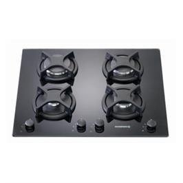 כיריים גז על משטח זכוכית ROSIERES דגם RTV640 בצבע שחור