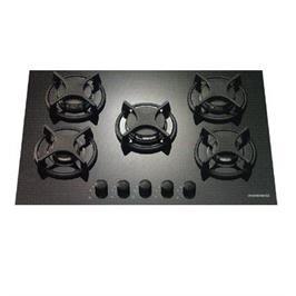 כיריים גז 5 להבות על משטח זכוכית בצבע שחור ROSIERES דגם RTV750 מתצוגה
