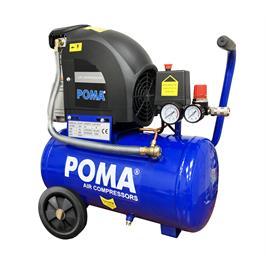מדחס אויר 25 ליטר ראש אחד בהספק 1500W מצויד במפסק הגנה בפני עומס יתר מבית POMA דגם TD2026